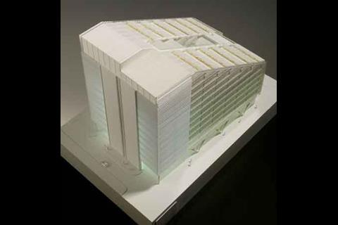 Scale model of Fore Street development